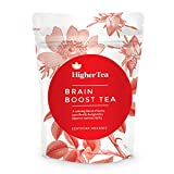 Brain Boost Tea By Higher Tea, Organic Mental Focus Drink Improves Memory Function Naturally, Enhances Clarity, Wellness Without Supplements, Caffeine
