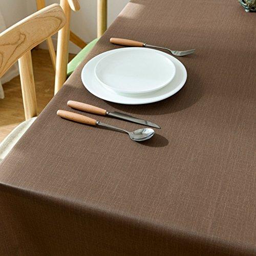 Mantel de Color sólido de MZIDP, Mesa de Centro de PVC Resistente al Agua al Aceite, antiescalada, Mesa de Mesa Rectangular, Mesa de Comedor