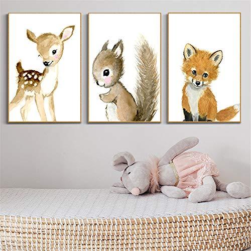 Martin Kench 3er Set Bilder Kinderzimmer Deko Junge Mädchen Poster Kinderbilder Wandgestaltung Wanddekoration Wandbilder Babyzimmer (Stil 2,20 * 30cm)