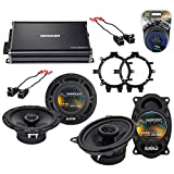 Compatible with Chevy Silverado Pickup 99-06 Speaker Replacement Harmony Audio Bundle R5 R46 & CXA360.4 Amp