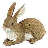 Design Toscano QM200861 Bashful the Bunny Lying Down Rabbit Outdoor Garden Statue, 10 Inch, Polyresin,full color