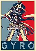 キャラクターポスター、映画ポスター、ジョジョの奇妙な冒険「Propaganda」ジャイロ ポスター A3サイズ(42x30cm)