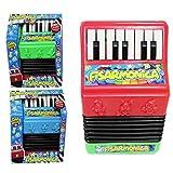 Aurora Store.it Fisarmonica a 19 Tasti Giocattolo Strumento Musicale per Bambini Insegnamento Doppia modalità: Modo Riproduzione - Modo Musicale