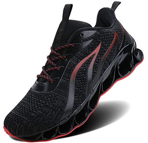 ALLCHAR Zapatillas deportivas para hombre, para correr, para el aire libre, para fitness, correr, transpirables, antideslizantes, moda para el tiempo libre, color, talla 44 EU
