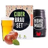 BrauFässchen | Geschenk für Frauen | Cider-Brauset Apfel | Apfelwein zum selber machen | In nur 7 Tagen trinkfertig | Perfektes Geburtstagsgeschenk für Frauen