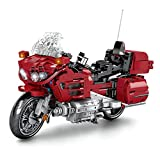 KareFLASH Gold-1800 Tour Motorcycle Model Building Kit and Engineering | Adult Collectible | Classic Big Model | 1:8 Scale |1205 Pieces
