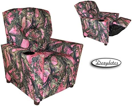 Best Dozydotes Cup Holder Recliner in True Timber MC2 Pink Camouflage