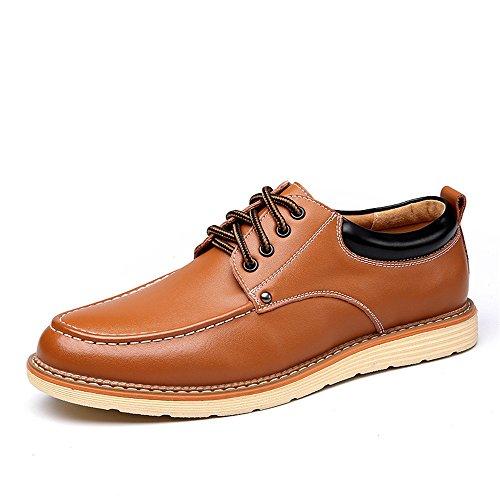 W.Z.H.H.H Oxford-Schuhe Herren PU Leder Business Halbschuhe Schnüren Arbeitskleidung Freizeitschuhe Driving Schuhe (Color : Schwarz, Size : 6.5 MUS)