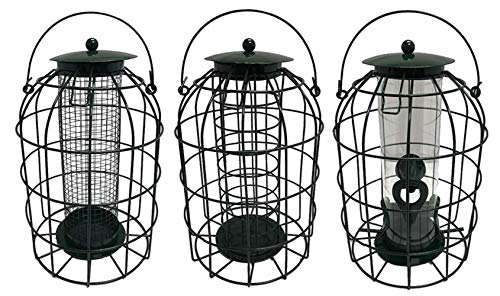 Simply Direct Set of 3 x Squirrel Resistant Guard Nut, Seed & Fat Ball Bird Feeders