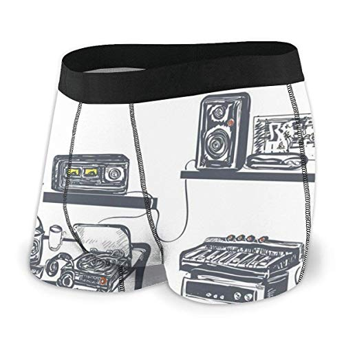 Nancyint Estudio de grabación con Dispositivos de música Tocadiscos Registros Altavoces Ilustración...