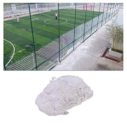 Red de valla para interior y exterior, red de seguridad para escaleras de niños, redes de cuerda de nailon blancas, protección de balcón red de portería de fútbol red de repuesto para deportes de entrenamiento de fútbol, 2*3M(7*10ft)