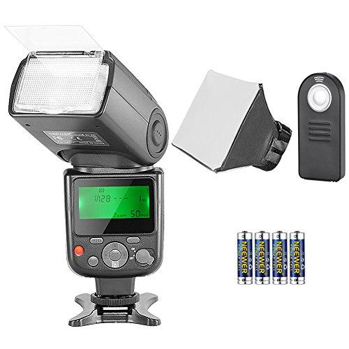 Neewer NW-670 TTL Flash Kit para Canon con Mando a Distancia Inalámbrico Infrarrojo, Batería AA, Difusor para Canon 7D Mark II,5D Mark II III,1200D,1100D,650D,550D,80D,70D
