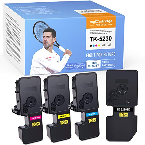 MyCartridge PHOEVER Toner Kompatibel für Kyocera TK-5230 TK5230 kompatibel für Kyocera Ecosys M5521CDN M5521CDW P5021CDN P5021CDWr (Schwarz/Cyan/Magenta/Gelb)