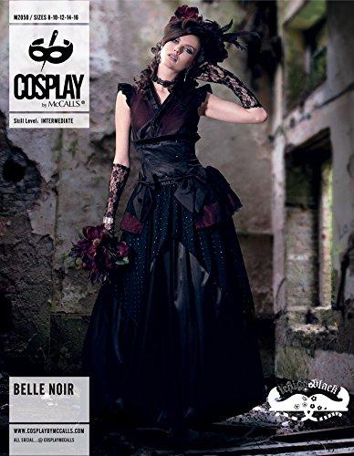 McCalls Cosplay Damen-Schnittmuster 2050Belle Noir-Kostüm