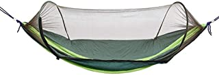 Single&Double Camping Hammock with Mosquito/Bug Net,Easy Assembly,Portable Parachute Nylon Hammock for Camping,Backpackin...