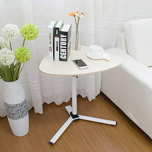 XIAOYAN Mesa De Cafe Mesa de Esquina, Escritorio de Lazy de la elevación, Escritorio de la computadora portátil Triangular, desprendible Multifuncional (Color : White Maple)
