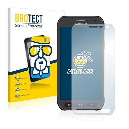 BROTECT Panzerglas Schutzfolie kompatibel mit Samsung Galaxy S6 Active SM-G890A - AirGlass, extrem Kratzfest, Anti-Fingerprint, Ultra-transparent