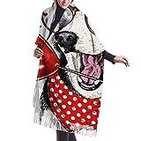 xianjing6 Bufandas del mantón del abrigo Womens Winter Scarf Cashmere Feel Siberian Husky Heart Shape Scarves Stylish Shawl Wraps Soft Warm Blanket Scarves For Women