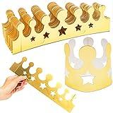 Sombreros de papel dorado para fiesta (3.3 x 3 pulgadas, 48 unidades)