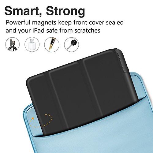 ELTD Huawei MediaPad T3 10 Hülle Case - Ultra Schlank Smart Cover Tasche Schutzhülle Case Für Huawei MediaPad T3 10 mit Standfunktion, Schwarz - 4