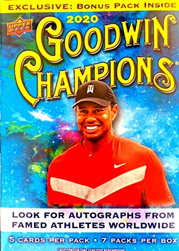2020 Upper Deck Goodwin Champions BLASTER box (7 pks/bx, subjects depicted will vary)