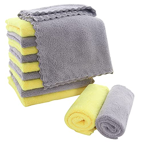 MOONQUEEN 12 Pack Microfiber Cleaning Cloth - Lint Free Kitchen Dish...