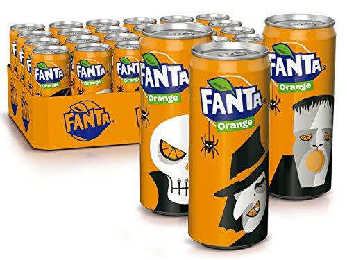 Fanta Orange, Super frische Limonade mit Orangengeschmack und Spaß-Garantie in coolen Dosen, 6 x 4er Packs, EINWEG Dose (24 x 330 ml)
