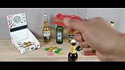 abridores de cerveza dispara m/ás de 5 metros Abridor de botellas de lanzador de pistola de tapa azul