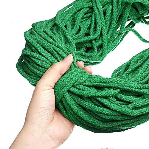 Cuerda de Algodón 5Mm Verde Marca sokey