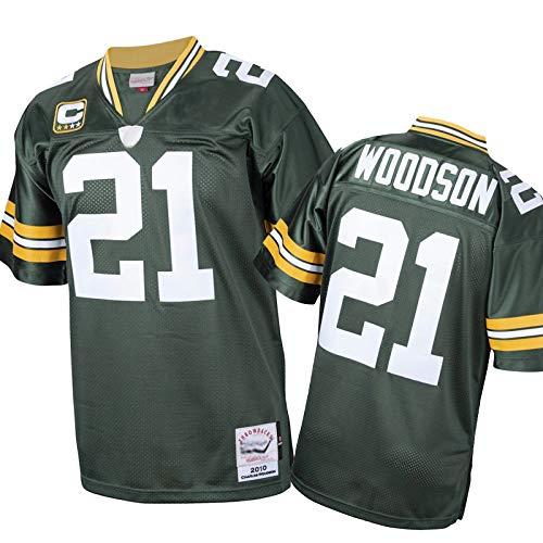 HUAML Woodson 2010 Rentierter Spieler-Jersey-Packer # 21, Herrenfußball-Trikot, American Football Fanatic Hemd (S-XXXXL) M