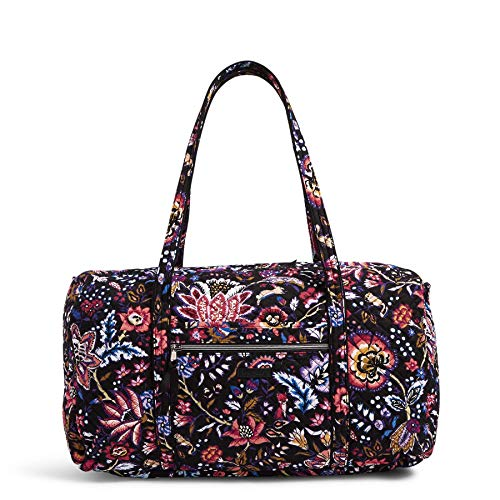 Vera Bradley Women's Signature Cotton Lay Flat Travel Duffel Travel Bag, Foxwood, One Size