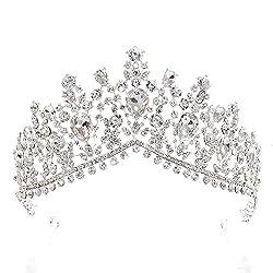 Silver Luxurious Rhinestone Bridal Crown Tiara