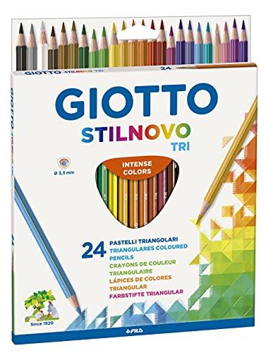 Giotto 257100–Pastelli triangolari, 6,8mm, personalizzabili, 24 Pezzi