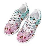 Nopersonality Zapatillas de Deportivos de Running para Mujer Chicas Adolescentes Gimnasia Ligero Sneakers Calzados Deporte Running Nurse Rosa Azul Tamaño 40