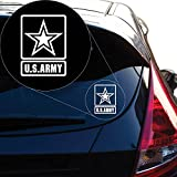 Yoonek Graphics US Army Decal Sticker for Car Window, Laptop and More # 959 (4' x 3', White)