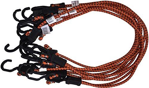 Kotap MABC-36 All Purpose Light Duty Adjustable Bungee Cords, Orange/Black, 36-Inch (10-Count)
