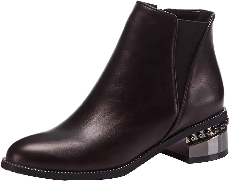 Jushee Womens Julatel 9 cm high-Heel Ankle Zipper Patent-Leather Boots