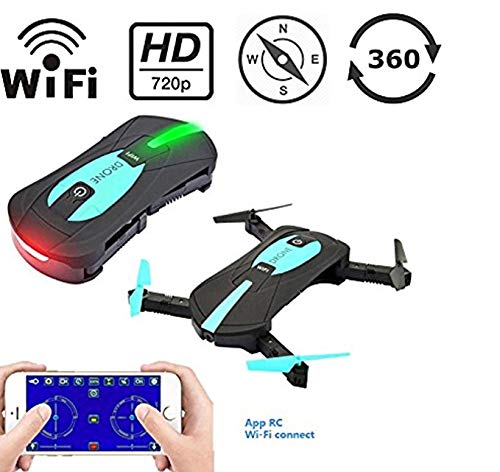 Mini WIFI RC Drone with Camera 2MP HD Camera Live Video Foldable...