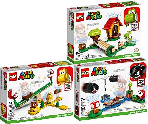 lego super mario joshi Bundle Lego® Super Mario™ Set di 3 Pezzi 71365 71366 71367 Scivolo della Pianta Piranha + Sbarramento di Pallottoloni Bill + Casa di Mario e Yoshi