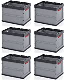 6 cajas plegables profesionales de 60 x 40 x 42 cm, incluye metro plegable