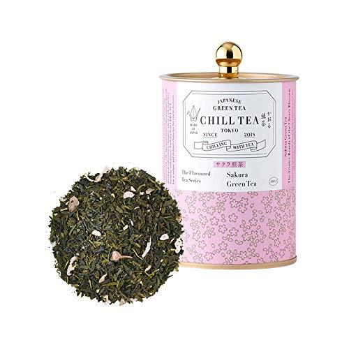Tè in foglie di Sakura di CHILL TEA Tokyo - Tè 100% giapponese ai fiori di ciliegio - Molto fruttato, aroma floreale (100g)