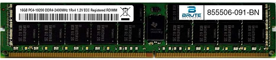 ずらすサンドイッチコントロールBrute Networks 855506-091-BN - 16GB PC4-19200 DDR4-2400MHz 1Rx4 1.2V ECC Registered RDIMM (OEM PN # 855506-091に相当)