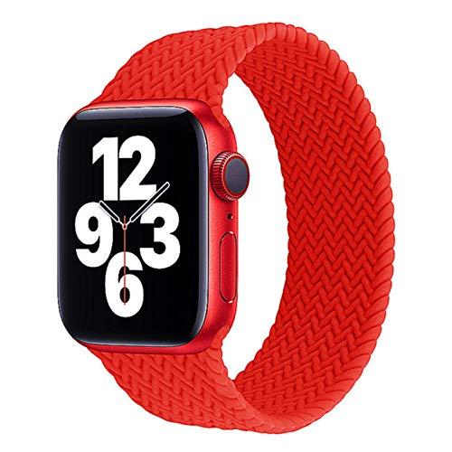 Correatrenzadapara Apple Watch Series 6 bandas 44mm 40mm Pulsera elástica de silicona para iwatch 5 SE 4 3 2 1 38mm 42mm