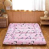 dongyu Colchón japonés grueso Tatami, futón colchón, cama gruesa Tatami, colchón plegable de camping, tamaño Queen (tamaño: 180 x 200 cm, color: B)