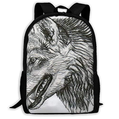 Cool Wolf Animal Print Mochila para Adultos para Adultos, niños Mayores