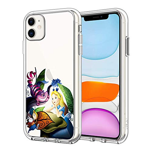 iPhone 11 Case Clear Case Cover iPhone Case (Alice-in-Wonderland)