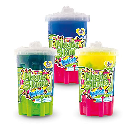 CRAZE Magic Slime Twist 30981 - Set di 3 lime magico per bambini, multicolore