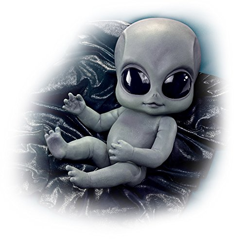 The Ashton-Drake Galleries Greyson Alien Ultra-Realistic Baby Doll with Blanket 16-inches