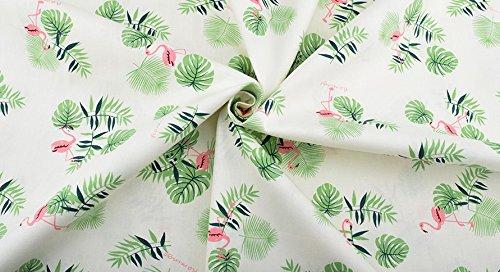 Ideal tela verde de flamencos NOVEDAD al corte por metros. 1 unidad es 0.50 m. x 1.60m . 2 unidades 1 m x 1.60 m...podras confeccionar cortinas, colchas, cojines, sabanas, canastillas, vestidos,100% algodon toallas, banderines, attrezo casa de muñecas, guirnaldas, manualidades de CHIPYHOME