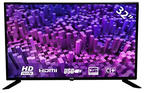 HKC 32F1D 80 cm (32 Zoll) LED Fernseher (HD, Triple Tuner, CI+, 2X HDMI, Mediaplayer USB 2.0) [Energieklasse A]